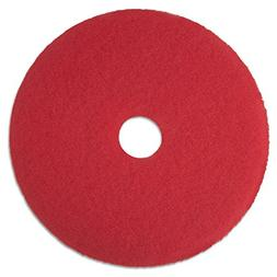 """3M 08387 Buffer Pad, Removes Scuff Marks, 12"""", 5/CT, Red"""