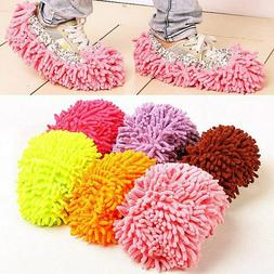 2Pcs Mop Slippers Microfiber House Cleaner Lazy Floor Cleani