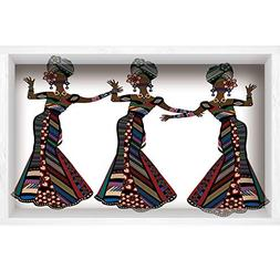 3D Depth Illusion Vinyl Wall Decal Sticker,African Woman,You
