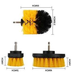 3PCS Cleaning Drill Brush Cleaner Tool Electric Power Scrubb