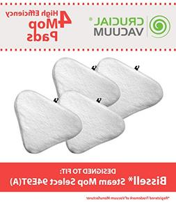 4 Bissell Steam Mop Select Mop Pads, Part # 76B2A