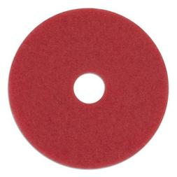"Boardwalk 4012RED Standard 12"" Diameter Buffing Floor Pads R"