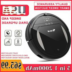 5 IN 1 Smart Robot Vacuum Cleaner Auto Cleaning Microfiber M