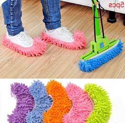 5pcs 5-Colors House Dust Cleaner Lazy Mop Slippers Multi-Fun