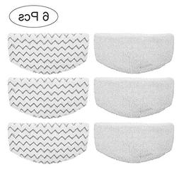 6 pack washable microfiber steam mop pads