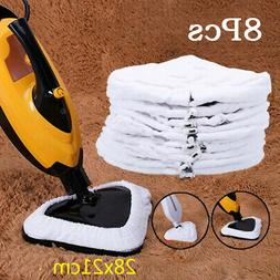 8Pcs Cleaning Pad Microfibre Cloth Steam Floor Mop Cleaner A