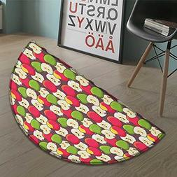 Suchashome Apple bath mats for floors Abstract Red and Green