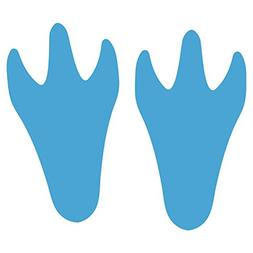 LiteMark 9 Inch Baby Blue Dinosaur Tracks Decal Stickers for