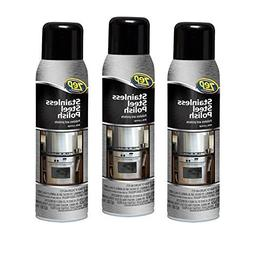3x Bottle of Zep Commercial 14 oz Stainless Steel Cleaner Po