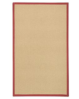 NaturalAreaRugs Cassel Custom Wool 3' x 5' Red Border