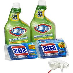 Clorox Clean-Up Bleach Cleaner Spray and S.O.S All Surface S