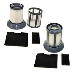 HQRP 2-Pack Dirt Cup Filter Assembly for Bissell 6489/64892