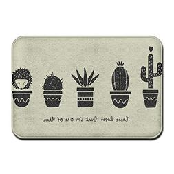 Debigkco Doormats These Dopes Think Im One Them Cactus Hedge