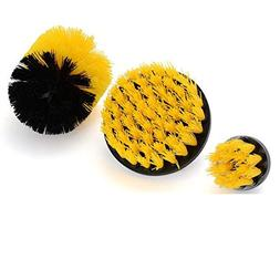 MOOYE Drill Brush 360 Attachments 3 pack kit Medium- Yellow