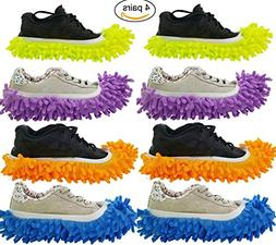 Totoo Duster Mop Slippers Shoes Cover, Soft Washable Reusabl