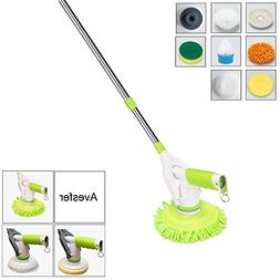 Electric Rotary Mop Cordless Floor Scrubber, 8-In-1 Home Rol