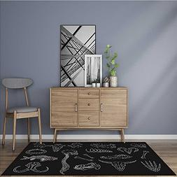 Extra Thick Comfortable Rug diverse skulls and bones set iso