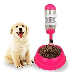 1 PC 500ml Dog Food Bowl Automatic Water Dispenser Stand Fee