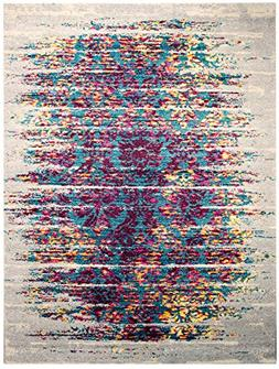 Super Area Rugs, Del Mar Waves Distressed Vintage Colorful A