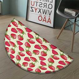 Fruits Half round doormat outside Strawberries Vivid Growth