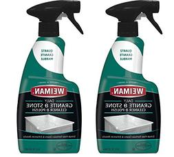 Weiman Granite Cleaner and Polish - 16 Ounce 2 Pack - for Gr