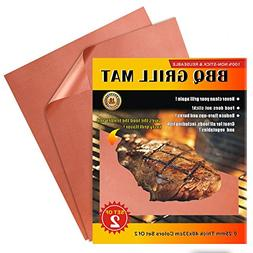 iMarku Grill Mat Set of 2,Non-stick BBQ Grill & Baking Mats