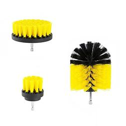 AUKUK 3 Pcs Hard Scrub Brush Drill Accessory Kit - Multifunc