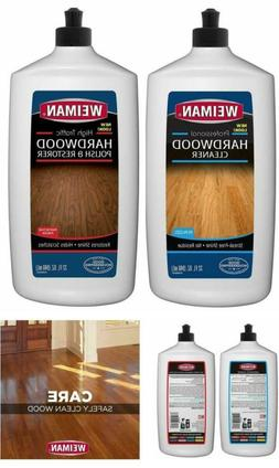 Weiman Hardwood Floor Cleaner, Shine Removes Scratches Prote