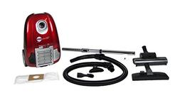 Atrix - Turbo Red HC1-AMZ Canister Vacuum with 6 Quart HEPA
