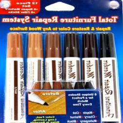 Beautyko Ideaworks 12-Piece Wood Touch-Up Markers and Wax St