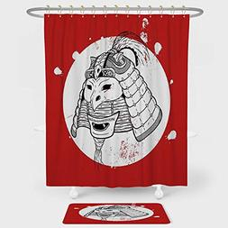 iPrint Kabuki Mask Decoration Shower Curtain And Floor Mat C