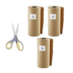 Boardwalk Kraft Paper, 18 in x 900 ft, Brown - 3 Pack with S