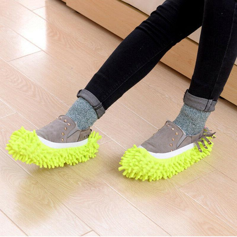 2Pcs Floor Foot Shoes Quick Polishing Cleaning Dust