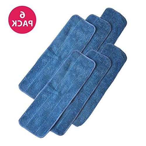 6 durable microfiber cleaning pads
