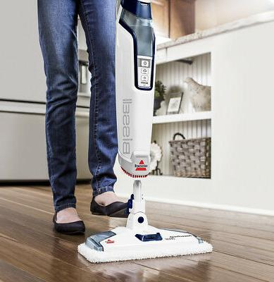 BISSELL Deluxe Steam Mop Cleaner - White/Saphir...
