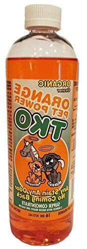 Organic Orange TKO Pet Power Super Concentrated Cleaner  All