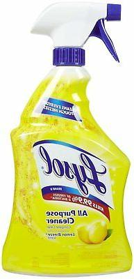 Reckitt All-Purpose Cleaner, Lemon, 12 32 Oz Spray Bottles/C