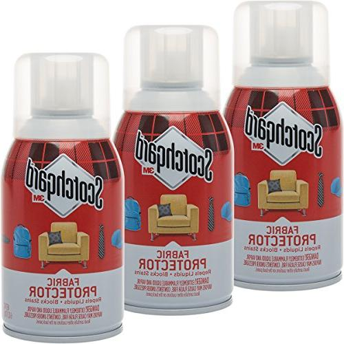 Scotchgard 3 Pack 3M Fabric 6oz Protector Spray Block Furni