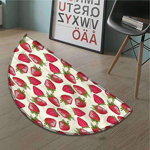 fruits bath mat non slip