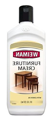 Weiman Furniture Cream With Lemon Oil 8 Fl