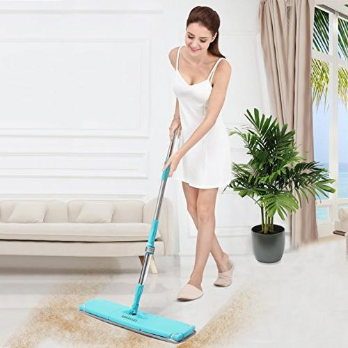 OLLSDIRE Microfiber Mop Floor For Wood Flat Mop Inch Mystic Star Don commercial Mops For Hardwood Floors