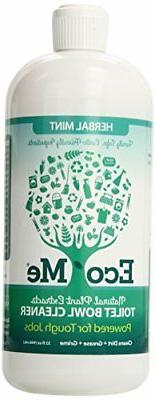 Eco-Me Natural Powerful Toilet Bowl Cleaner, Herbal Mint, 32