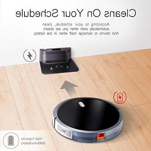 Robot Cleaner with 1400Pa Strong Suction, 2600mAh Battery, Technology Self-Charging Vacuum for Carpet Hard Allerg