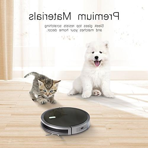Robot Vacuum 1400Pa Strong Battery, and Self-Charging for Low-pile and Hard filter for Hair Allerg