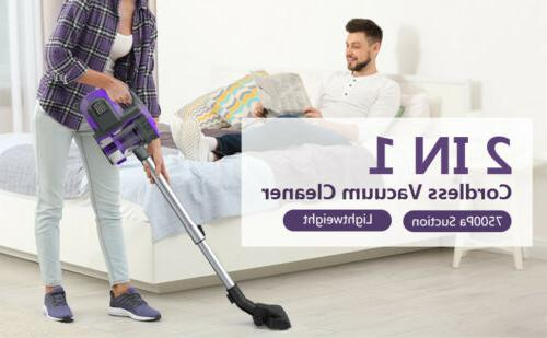 Cordless Vacuum Handheld Bagless Cleaner Dust Collector 7500PA
