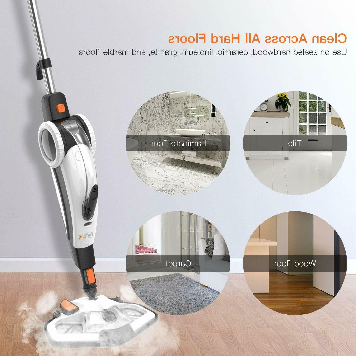 Steam Mop, TACKLIFE Steam Cleaner Steamer and Hand-held