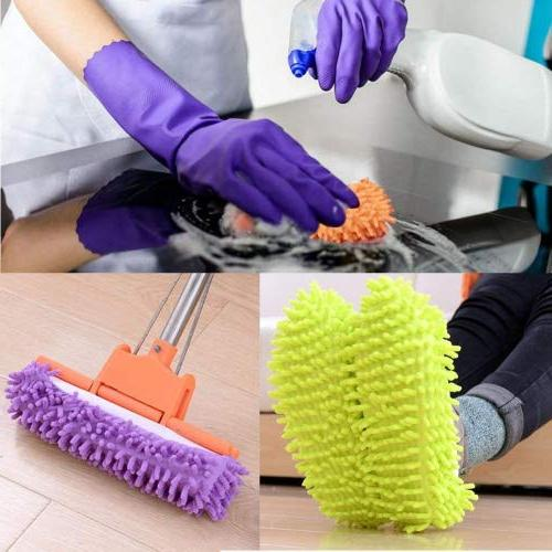 Bontip Washable Dust Mop Shoes Cleaning Mop Cleaning Cover House Office