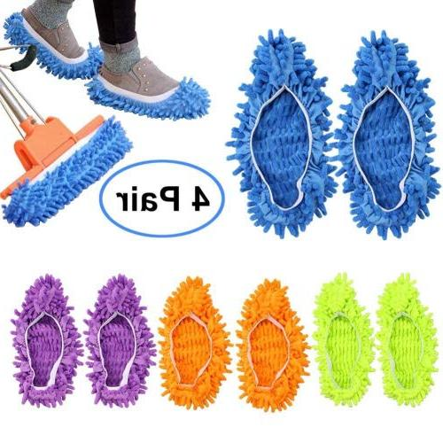 Bontip 4 Unisex Washable Slippers Shoes Microfiber Cleaning Cleaning for House