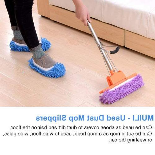 Washable Dust Slippers Shoes Microfiber Mop Slippers Cleaning Cover for House Kitchen