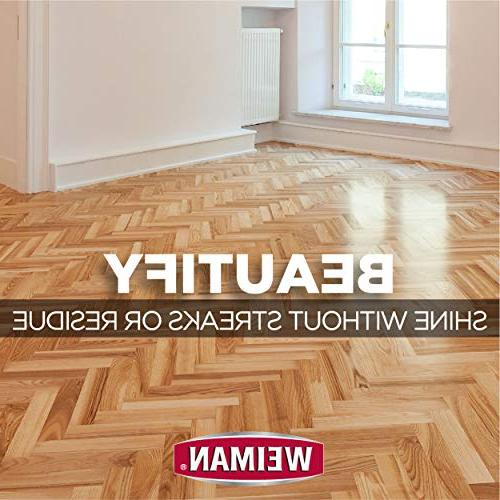 Weiman Hardwood Floor & Restorer - - High-Traffic Hardwood Natural Shine, Scratches,